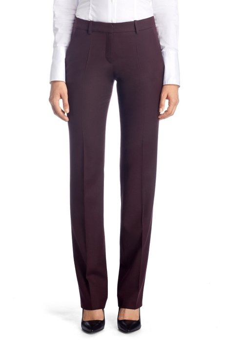 Regular fit trousers 'Hinass-5', Dark Purple