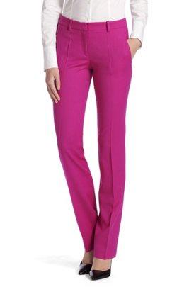 Regular fit trousers 'Hinass-5', Dark pink