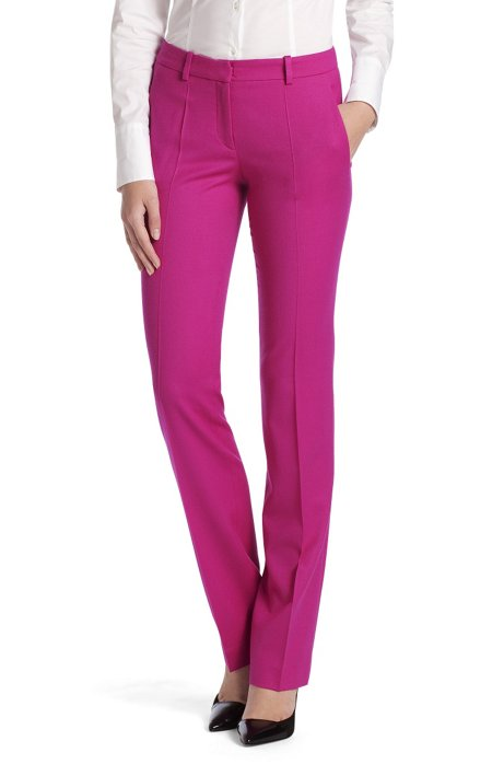 Regular fit trousers 'Hinass-5', Dark pink