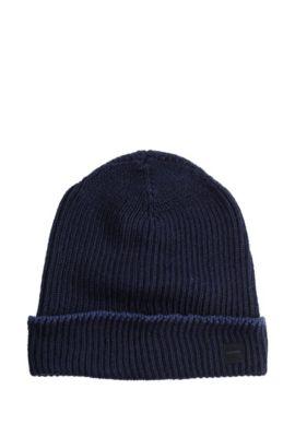 Bonnet en laine, Wotana, Bleu foncé