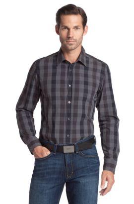 Freizeit-Hemd ´Lucas` mit Kentkragen, Schwarz