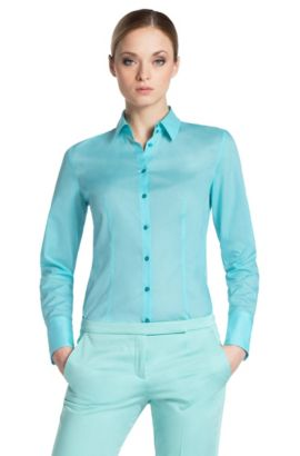 Bluse ´Etrixe1` aus Baumwolle, Hellgrün