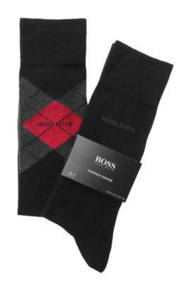 Socken-Doppelpack ´Twopack RS Design`, Schwarz
