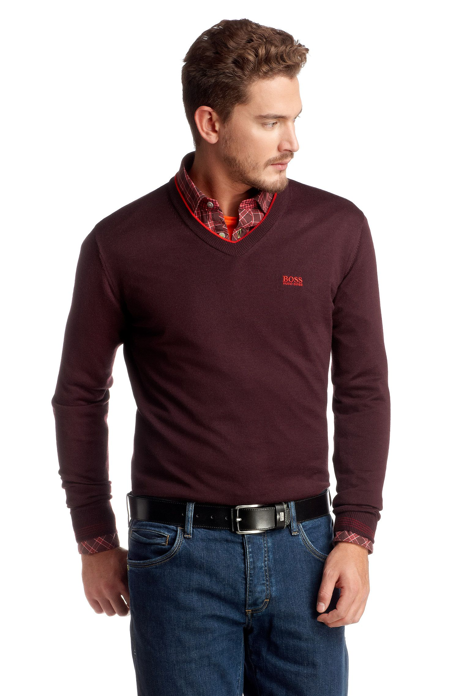 Pullover ´Vim` mit sportlichem V-Ausschnitt