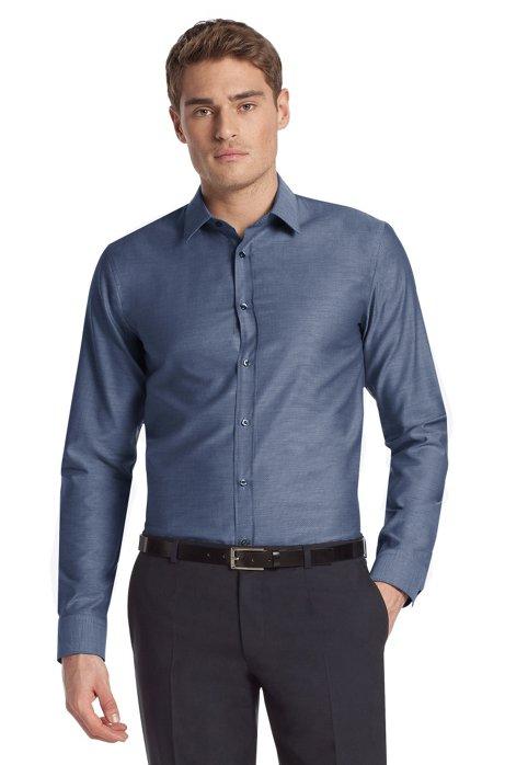Business shirt with Kent collar ´Elisha`, Dark Blue