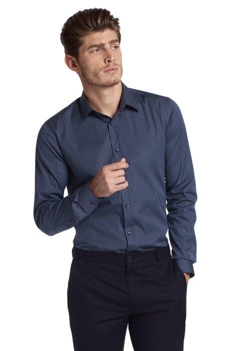 Business shirt with a Kent collar 'Elisha', Dark Grey