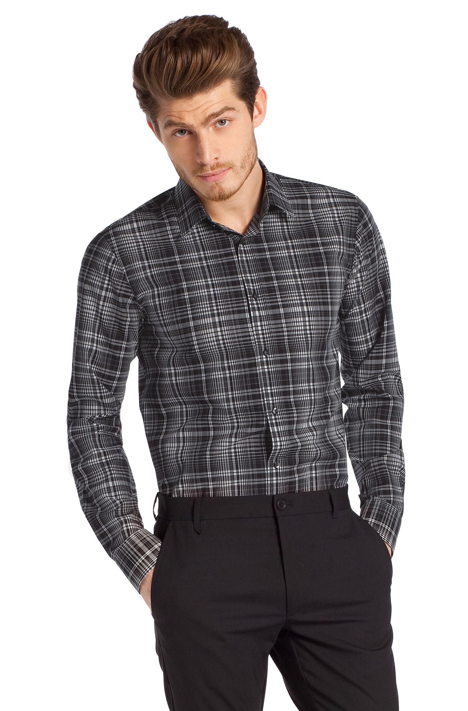 Slim fit overhemd ´Elisha` met kentkraag