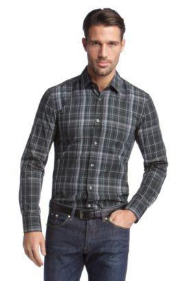 Freizeit-Hemd ´Ronny` mit Karomuster, Dunkelgrün