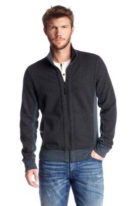 Sweatshirt-Jacke ´Zparks` mit Stehkragen., Schwarz
