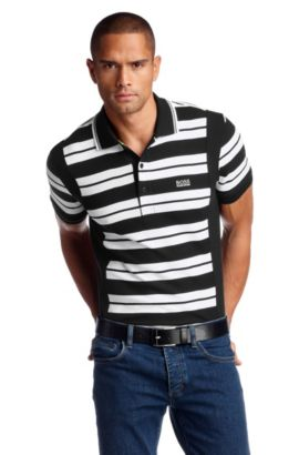 Poloshirt ´Paddy 4` met contrasterende kraag, Zwart