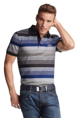 Polo ´Paddy 1` mit Labelstitching, Blau
