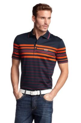 Polo ´Paddy 2` mit Labelstitching, Dunkelblau