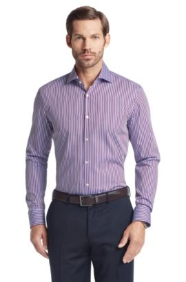 Business shirt with Kent collar 'Jaron', Rose foncé