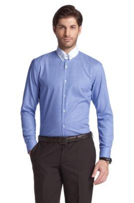 Businessoverhemd ´Ivory` met tabkraag, Blauw