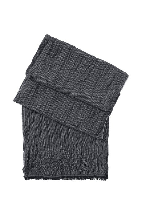 Wool and viscose scarf 'Scarf cm 180 x 40', Anthracite