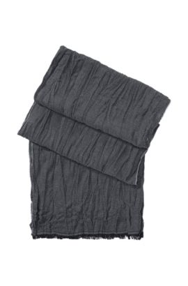 Schal ´Scarf cm 180 x 40` mit Wolle und Viskose, Anthrazit