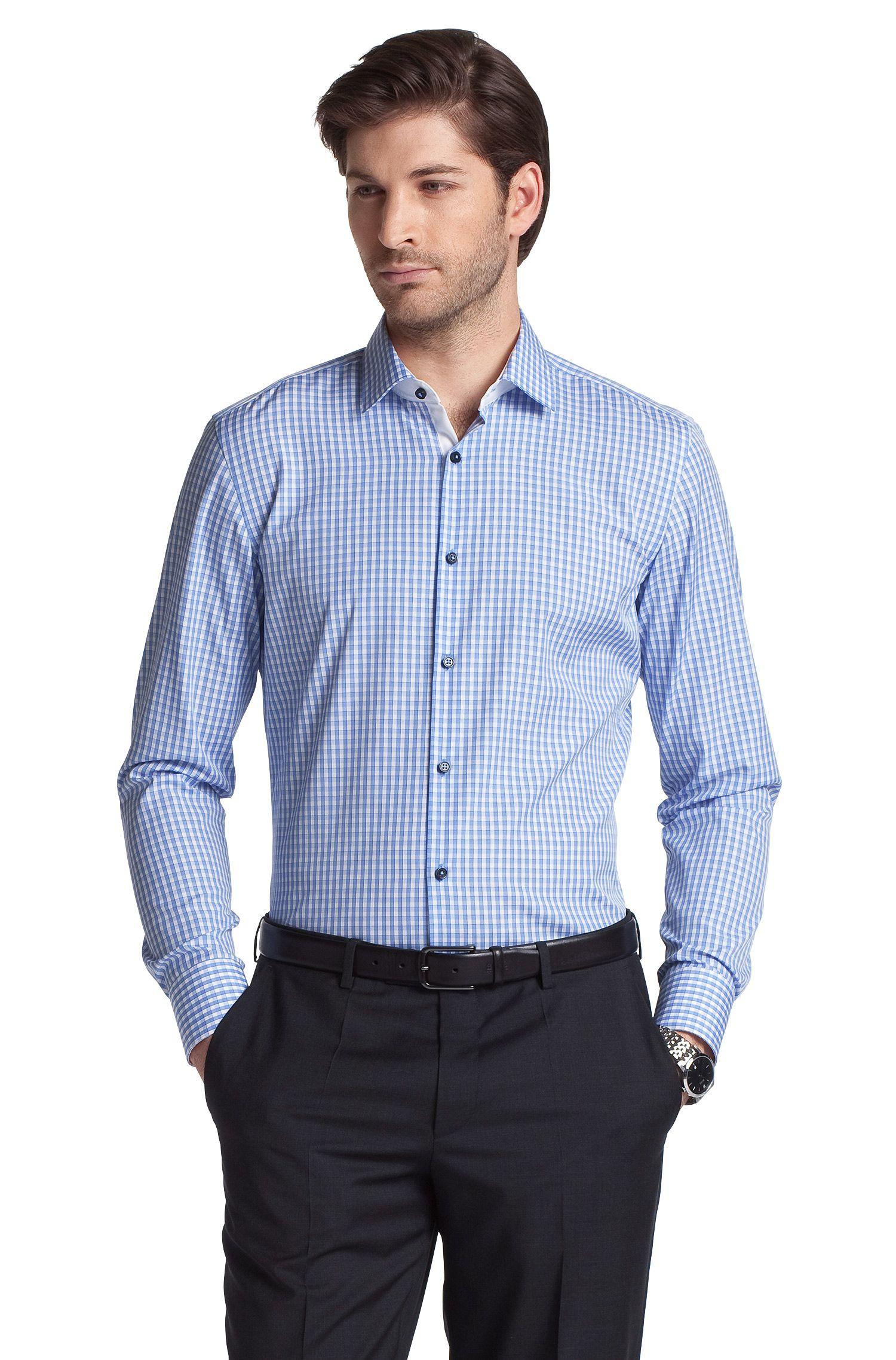 Business-Hemd ´Juri` mit Kentkragen, Blau