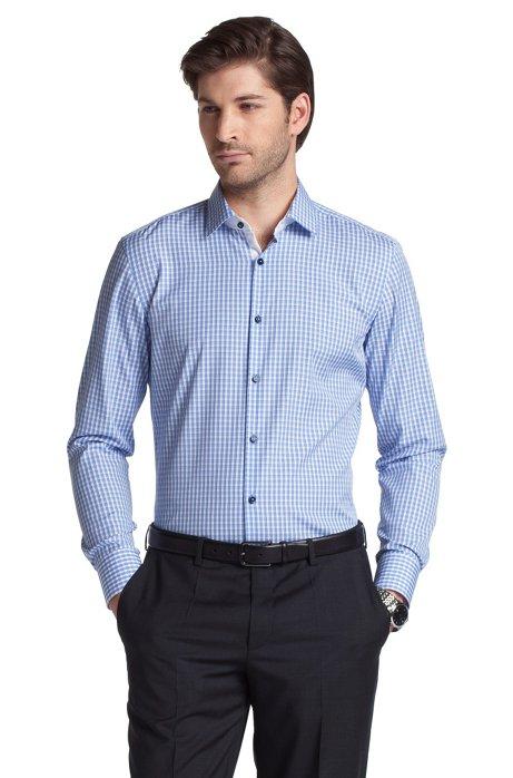 Business shirt with Kent collar 'Juri', Blue