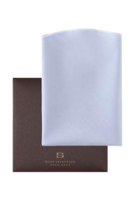 Pochette ronde, Pocket square round, Bleu foncé