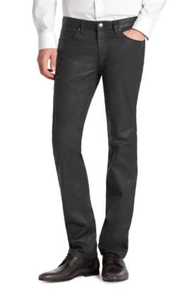 Slim-Fit Jeans ´HUGO 708`, Schwarz