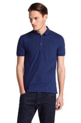 Poloshirt ´Dolon` met liggende kraag, Donkerblauw