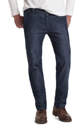 Pantalon Slim Fit en velours côtelé, Sairy3-W, Bleu foncé