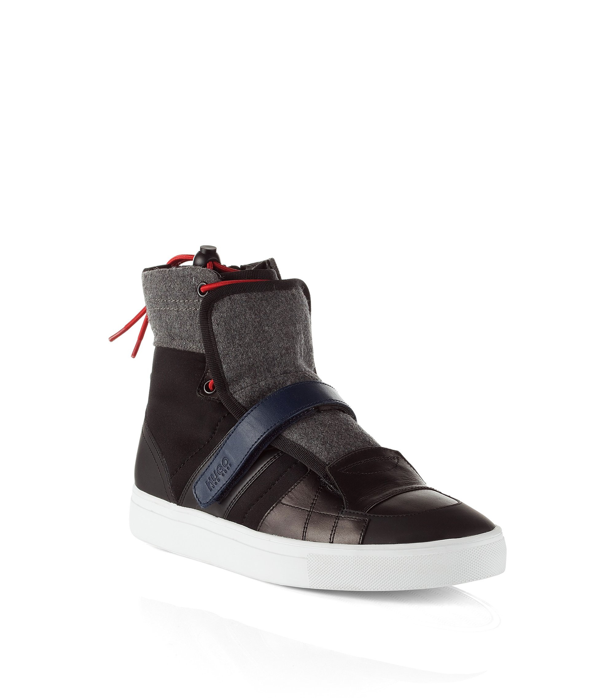 High Top Sneaker ´Furtio` im Material-Mix, Anthrazit
