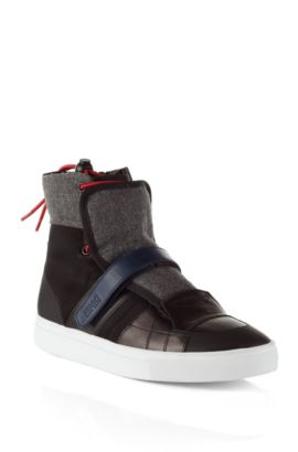 High Top Sneaker ´Furtio` im Material-Mix, Anthrazit