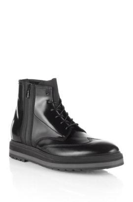 Combat boots ´Sursion` van kalfsleer, Zwart
