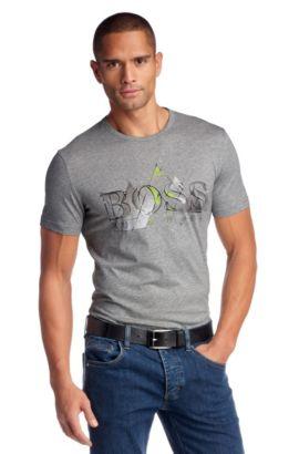 T-shirt en pur coton, Tee Box, Gris chiné