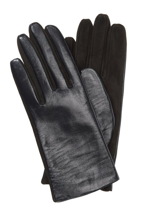 Lamb leather gloves 'GL 225', Open Grey