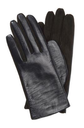 Handschoenen 'GL 225' van lamsleer, Lichtgrijs