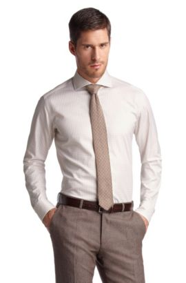 Sportief geruit business-overhemd ´Christo`, Beige