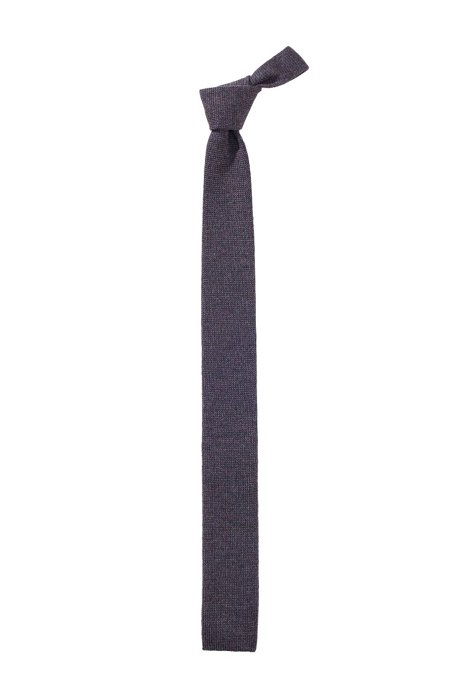 Wool tie 'Tie 5 cm knitted', Anthracite