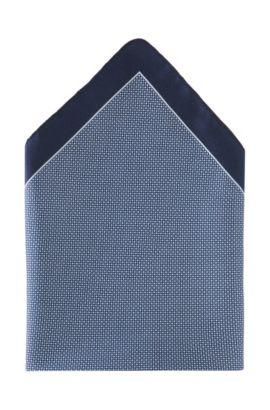 Pochette en soie, Pocket square 33 x 33, Bleu foncé