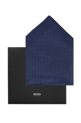 Pochette en soie, Pocket square 33x33, Bleu foncé