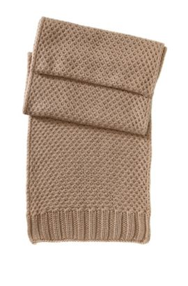 Écharpe en pure laine vierge, SC488, Brun chiné