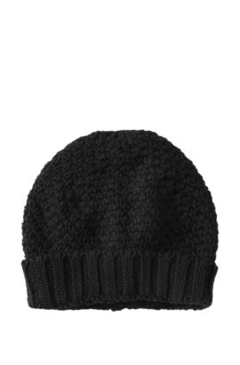 Strickmütze ´HA371` aus reiner Schurwolle, Schwarz