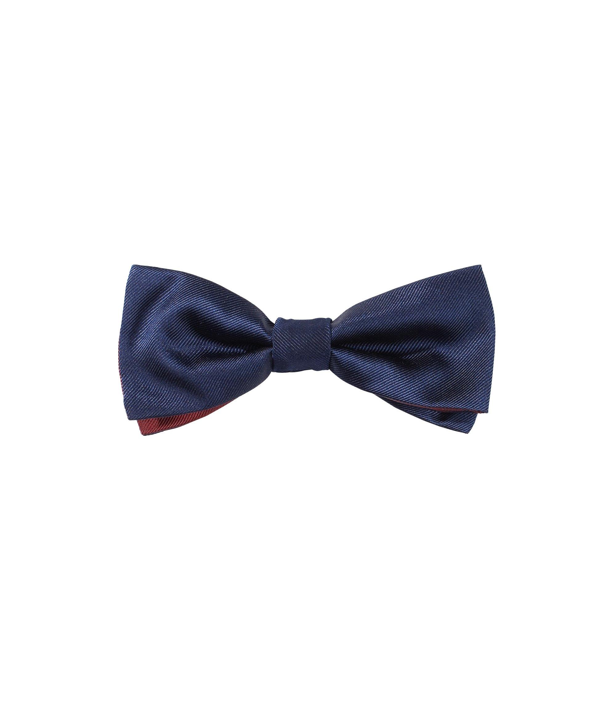 Fliege ´Double Bow Tie` aus Seide, Dunkelblau