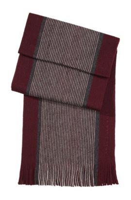 Écharpe en laine vierge, Farold, Rouge sombre