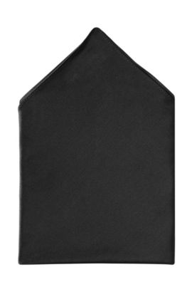 Pochette unicolore, Pocket Square 33 x 33, Noir