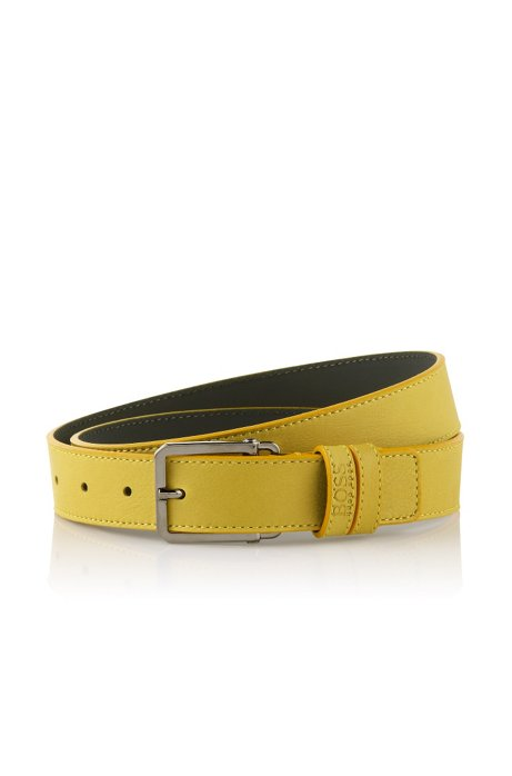 Belt with a square buckle 'Crosby', Green