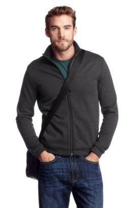 Sweatshirt-Jacke ´Turin 06` mit Stehkragen, Anthrazit