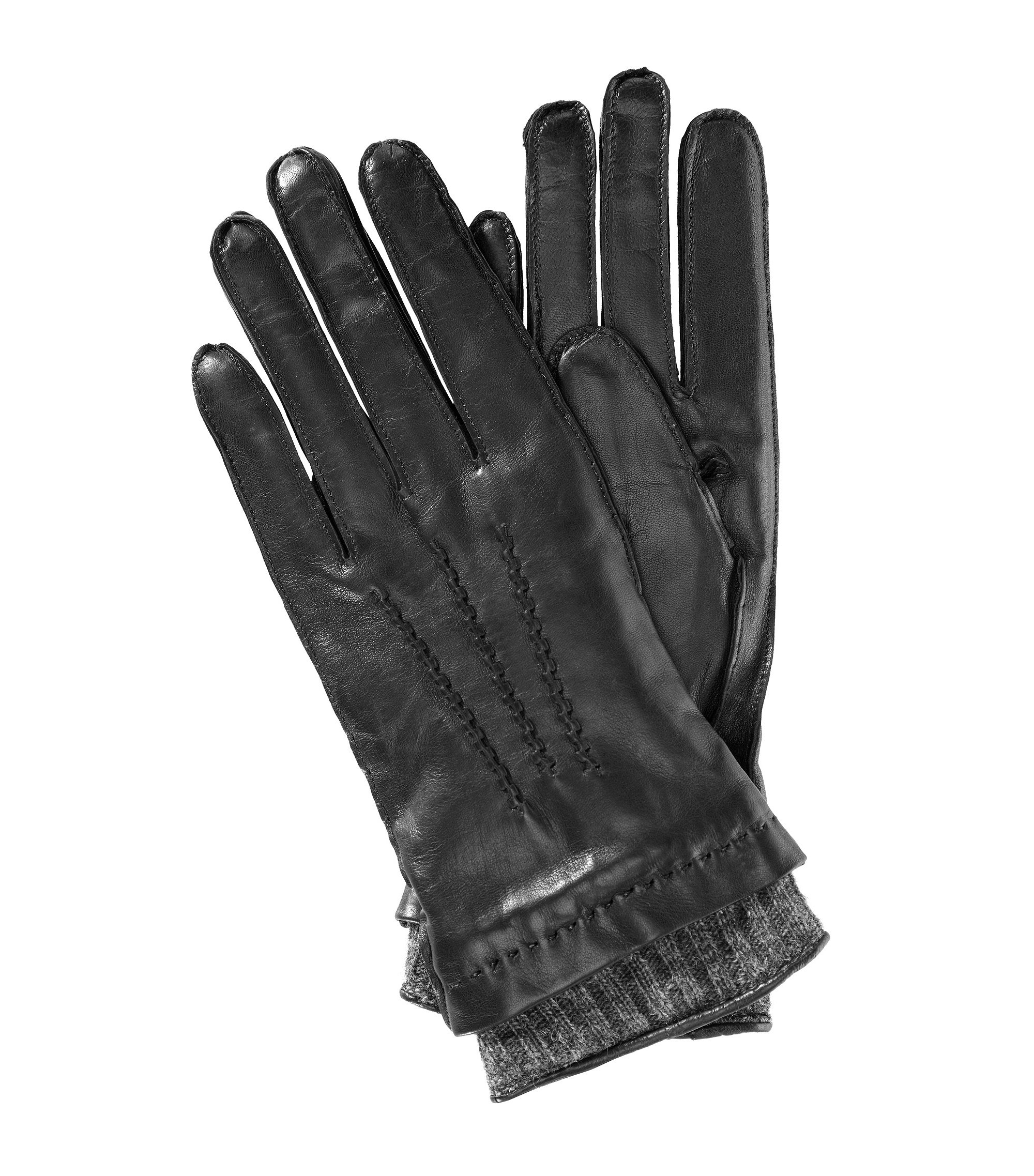 Lamb leather gloves 'GL 228', Black