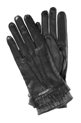 Handschuhe ´GL 228` aus Lammleder, Schwarz