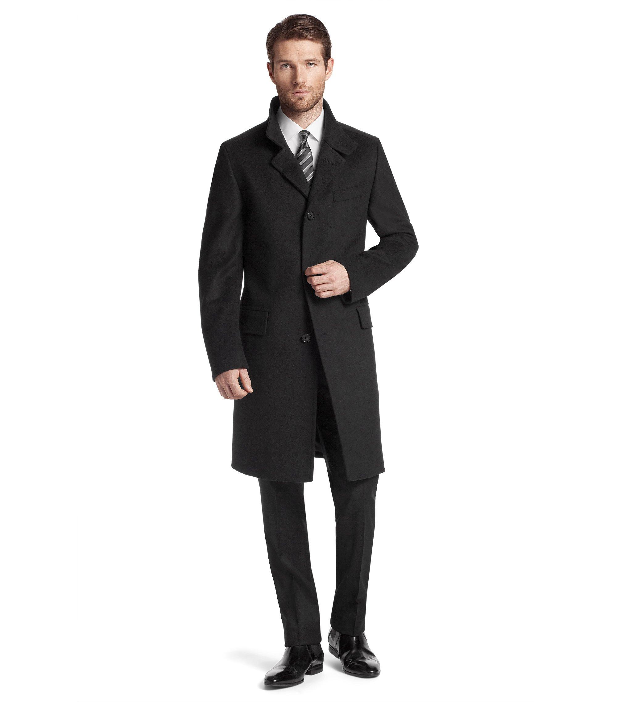 New wool blend coat by BOSS Black 'The Sintrax', Black