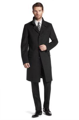 Manteau en laine mélangée, The Sintrax, Noir