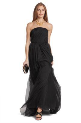 Abendkleid ´Dianela` aus feinstem Seidenkrepp, Schwarz