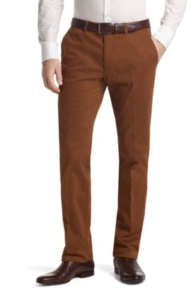 Pantalon de costume coton stretch, Shadow6-W, Marron