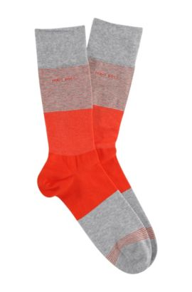 Socken ´RS Design` mit Blockstreifen-Dessin, Silber